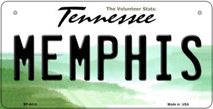 Memphis Tennessee Novelty Metal Bicycle Plate BP-6414