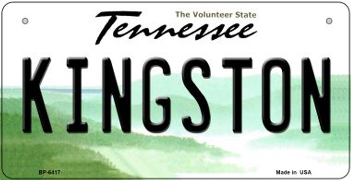Kingston Tennessee Novelty Metal Bicycle Plate BP-6417