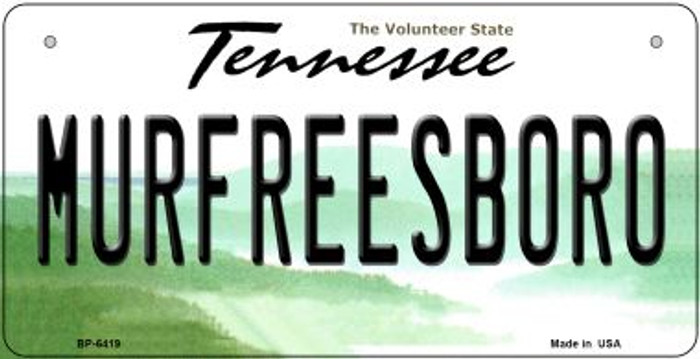 Murfreesboro Tennessee Novelty Metal Bicycle Plate BP-6419