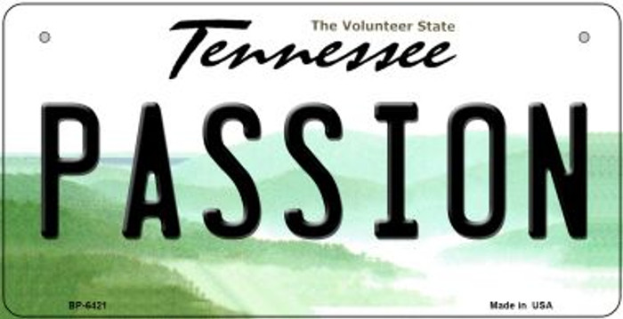 Passion Tennessee Novelty Metal Bicycle Plate BP-6421