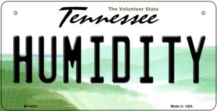 Humidity Tennessee Novelty Metal Bicycle Plate BP-6423