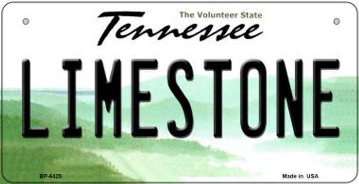 Limestone Tennessee Novelty Metal Bicycle Plate BP-6425