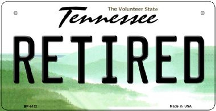 Retired Tennessee Novelty Metal Bicycle Plate BP-6432