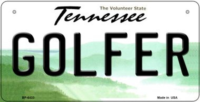 Golfer Tennessee Novelty Metal Bicycle Plate BP-6433