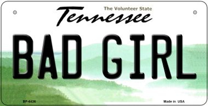 Bad Girl Tennessee Novelty Metal Bicycle Plate BP-6436