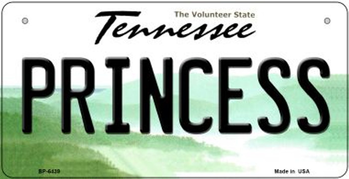 Princess Tennessee Novelty Metal Bicycle Plate BP-6439