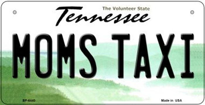 Moms Taxi Tennessee Novelty Metal Bicycle Plate BP-6440
