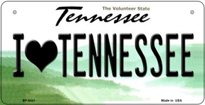 I Love Tennessee Novelty Metal Bicycle Plate BP-6441