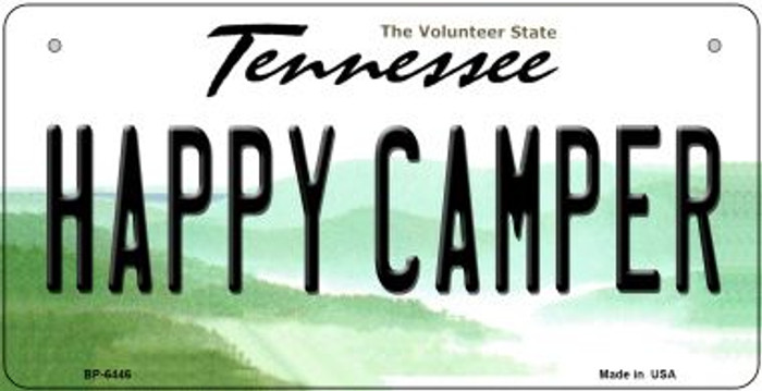 Happy Camper Tennessee Novelty Metal Bicycle Plate BP-6446