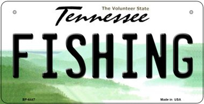 Fishing Tennessee Novelty Metal Bicycle Plate BP-6447