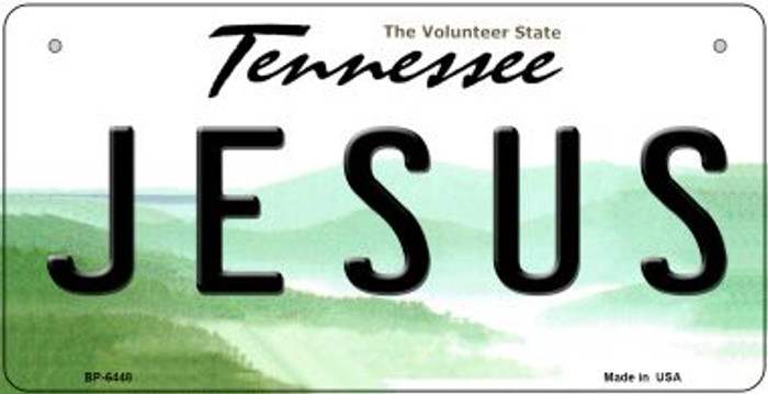 Jesus Tennessee Novelty Metal Bicycle Plate BP-6448