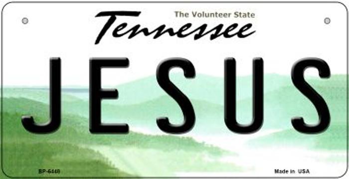 Jesus Tennessee Novelty Metal Bicycle Plate BP-6448