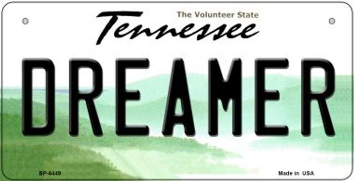 Dreamer Tennessee Novelty Metal Bicycle Plate BP-6449