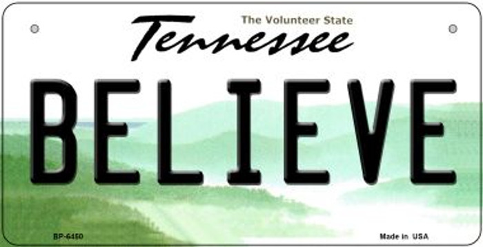 Believe Tennessee Novelty Metal Bicycle Plate BP-6450
