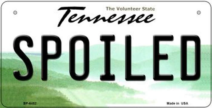Spoiled Tennessee Novelty Metal Bicycle Plate BP-6452
