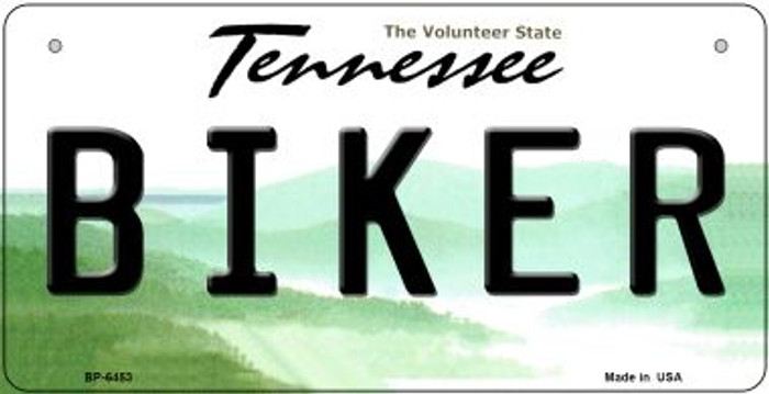 Biker Tennessee Novelty Metal Bicycle Plate BP-6453