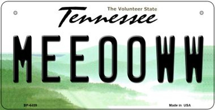Meeooww Tennessee Novelty Metal Bicycle Plate BP-6459