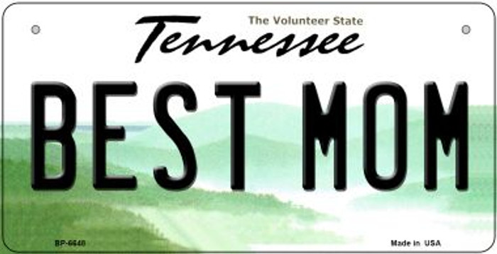 Best Mom Tennessee Novelty Metal Bicycle Plate BP-6648
