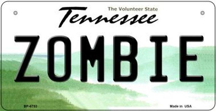 Zombie Tennessee Novelty Metal Bicycle Plate BP-6753