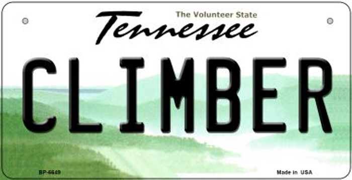 Climber Tennessee Novelty Metal Bicycle Plate BP-6649