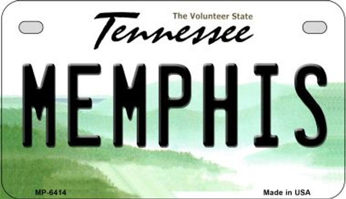 Memphis Tennessee Novelty Metal Motorcycle Plate MP-6414