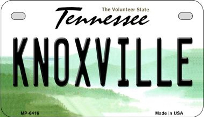 Knoxville Tennessee Novelty Metal Motorcycle Plate MP-6416