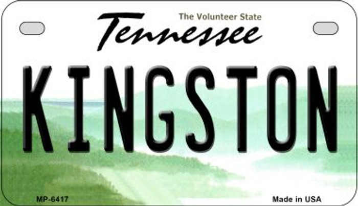 Kingston Tennessee Novelty Metal Motorcycle Plate MP-6417