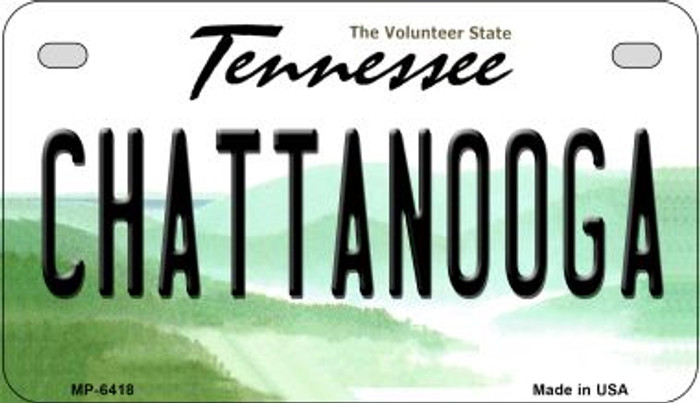 Chattanooga Tennessee Novelty Metal Motorcycle Plate MP-6418