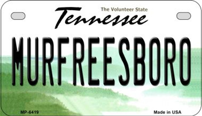 Murfreesboro Tennessee Novelty Metal Motorcycle Plate MP-6419
