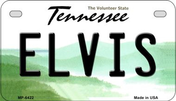 Elvis Tennessee Novelty Metal Motorcycle Plate MP-6422