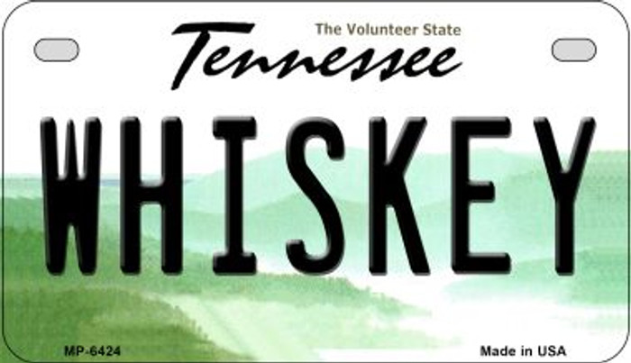Whiskey Tennessee Novelty Metal Motorcycle Plate MP-6424