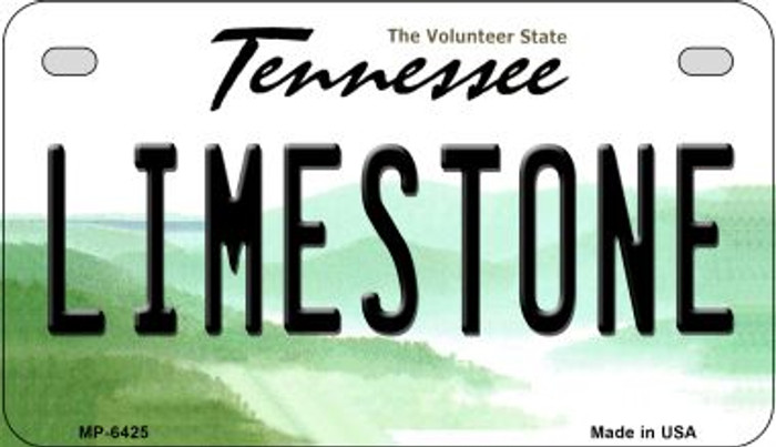 Limestone Tennessee Novelty Metal Motorcycle Plate MP-6425