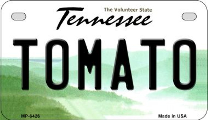 Tomato Tennessee Novelty Metal Motorcycle Plate MP-6426