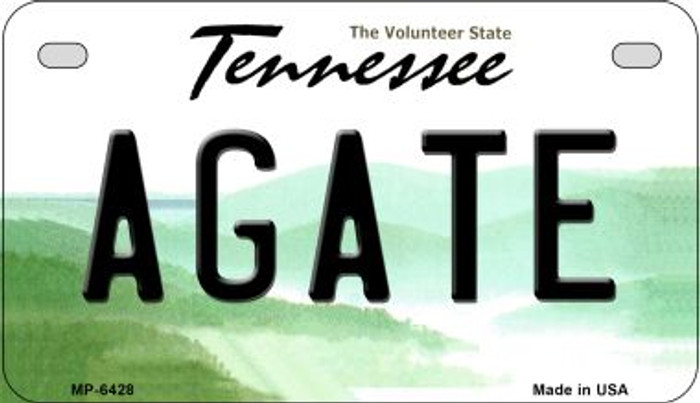 Agate Tennessee Novelty Metal Motorcycle Plate MP-6428
