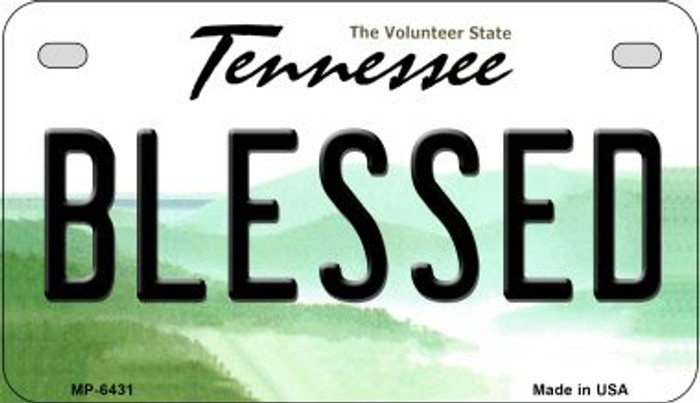 Blessed Tennessee Novelty Metal Motorcycle Plate MP-6431