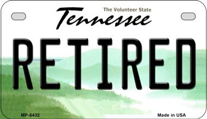 Retired Tennessee Novelty Metal Motorcycle Plate MP-6432