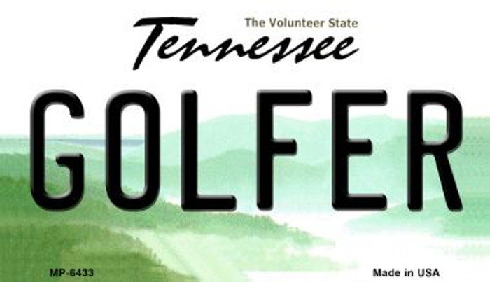 Golfer Tennessee Novelty Metal Motorcycle Plate MP-6433
