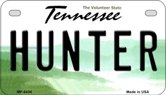 Hunter Tennessee Novelty Metal Motorcycle Plate MP-6434