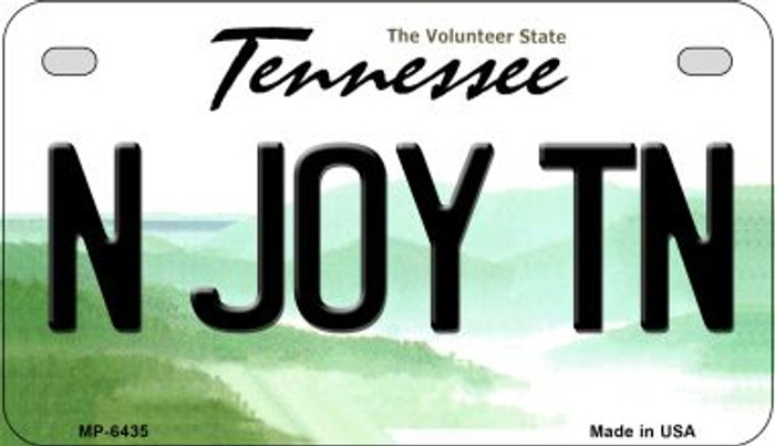 N Joy TN Tennessee Novelty Metal Motorcycle Plate MP-6435