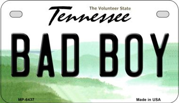 Bad Boy Tennessee Novelty Metal Motorcycle Plate MP-6437