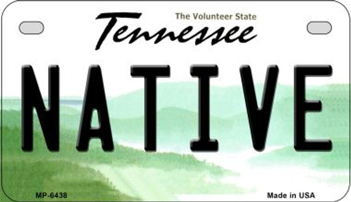 Native Tennessee Novelty Metal Motorcycle Plate MP-6438