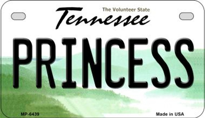 Princess Tennessee Novelty Metal Motorcycle Plate MP-6439
