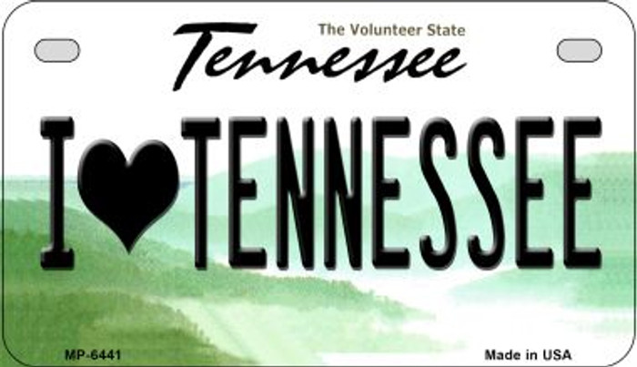 I Love Tennessee Novelty Metal Motorcycle Plate MP-6441