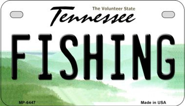 Fishing Tennessee Novelty Metal Motorcycle Plate MP-6447