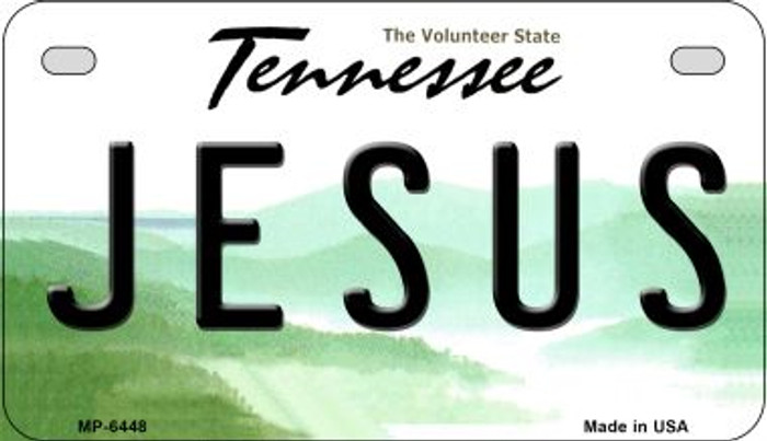 Jesus Tennessee Novelty Metal Motorcycle Plate MP-6448