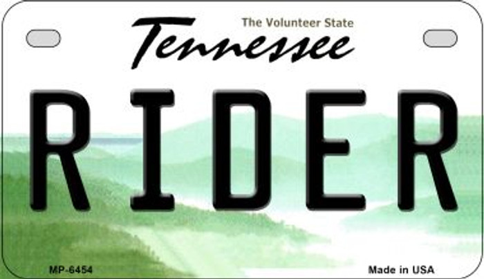 Rider Tennessee Novelty Metal Motorcycle Plate MP-6454