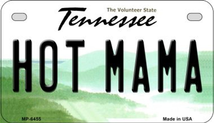 Hot Mama Tennessee Novelty Metal Motorcycle Plate MP-6455