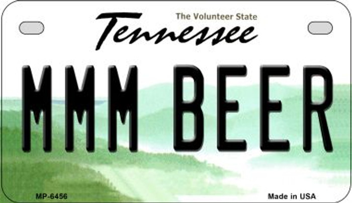 MMM Beer Tennessee Novelty Metal Motorcycle Plate MP-6456