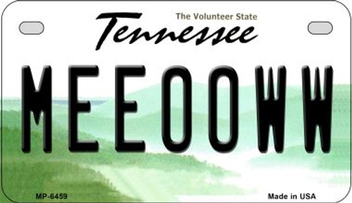 Meeooww Tennessee Novelty Metal Motorcycle Plate MP-6459