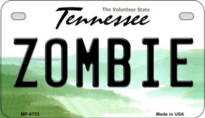 Zombie Tennessee Novelty Metal Motorcycle Plate MP-6753